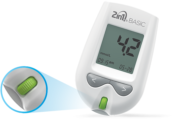 Διαγνωστική συσκευή γλυκόζης 2in1basic